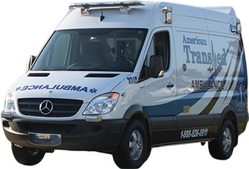 American Transmed Ambulance on a transparent background